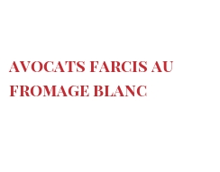 Recipe Avocats farcis au fromage blanc