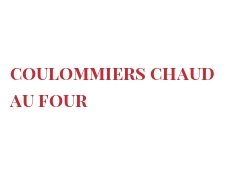 Recipe Coulommiers chaud au four